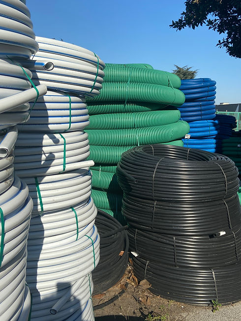 CAVI Tubazioni corrugate in PEAD Manicotti Monotubi e tritubi in PEAD per fibra ottica Cavidotti in PVC Mini bundle per fibra