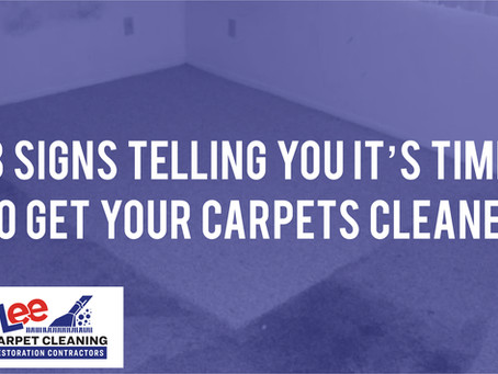 3 Signs Telling You it's Time to Get Your Carpets Cleaned