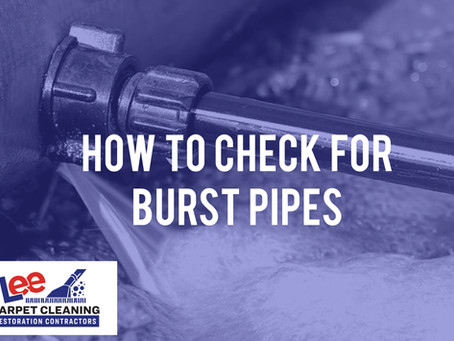 How to Check for Burst Pipes
