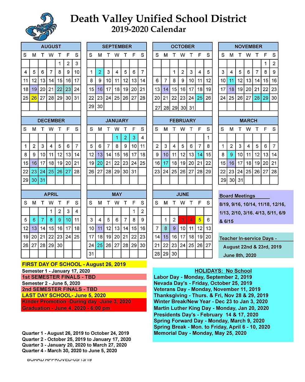 19-20 School Calendar Old Ver 19-20-Orig