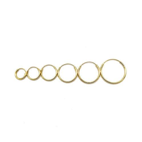 Basic hoops goldplated 8-10-12-14-16-18 mm