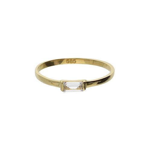 VL ring stackable mini baguette