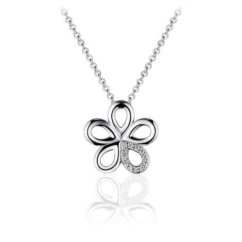 GS infinitois ketting met bloem hanger