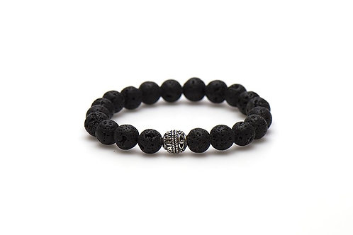 Karma mannen armband the rock silver bead 10mm