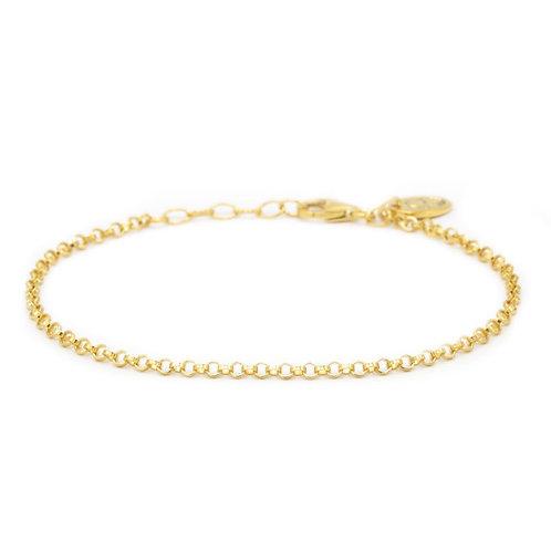 Karma armband round chain