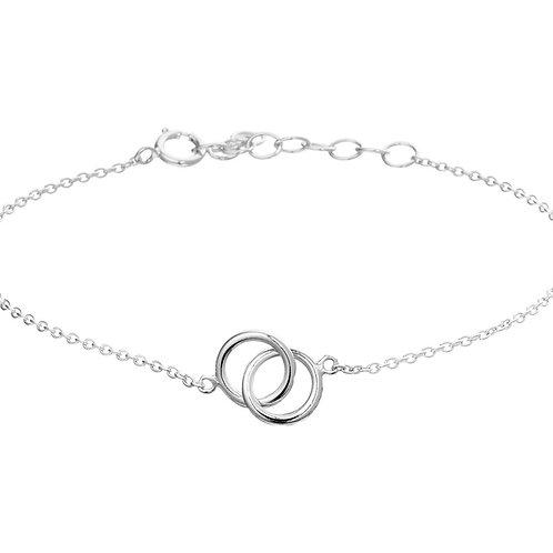 Zilver anker armband met rondjes