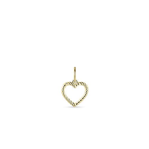 GS 14K gouden hangertje hart