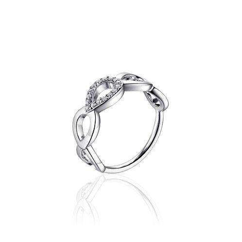 GS infintois ring met opengewerkte bloemblaadje