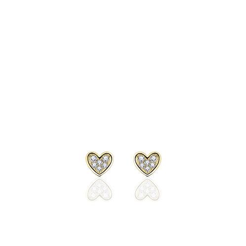 GS oorknopjes hartjes met diamant
