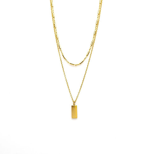 Karma ketting double tubes rectangle