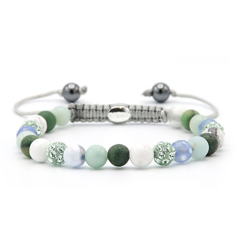 Karma armband spiral chilly green xs (green crystal)