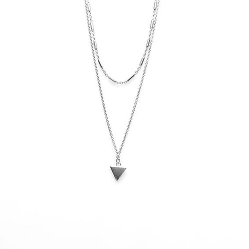 Karma ketting double tubes triangle