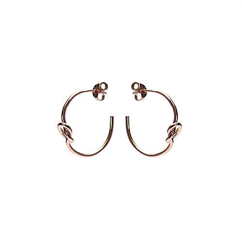 Karma oorbellen symbols xl half knot