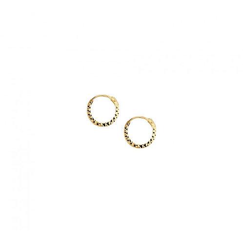 Bewerkte gouden oorringen 14k