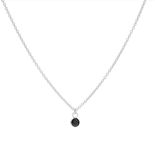 Karma ketting black zirconia dot