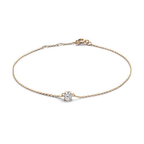 14 k gouden armband met zirkonia steentje