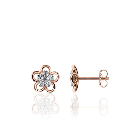 GS infinitois oorstekers binnenste bloem gezet met zirconia's