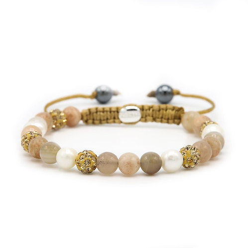 Karma armband spiral warm breeze (gold crystal)