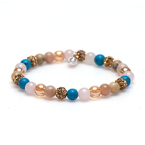 Karma armband spiral golden goals xs elastic (gold crystal)