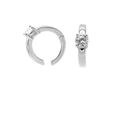 Karma earcuff asjustable clip plain single zirconia