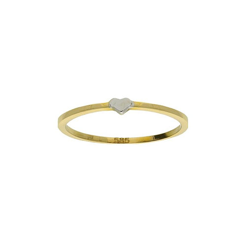 VL ring stackable mini heart