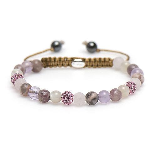 Karma armband spiral erica XS (pink crystal)