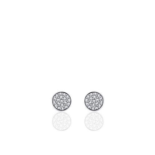GS oorknopjes rond diamant