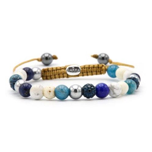 Karma armband spiral beach and blues xs (blue crystal)