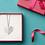 Thumbnail: N4 Familieketting in hartvorm met levensboom en namen