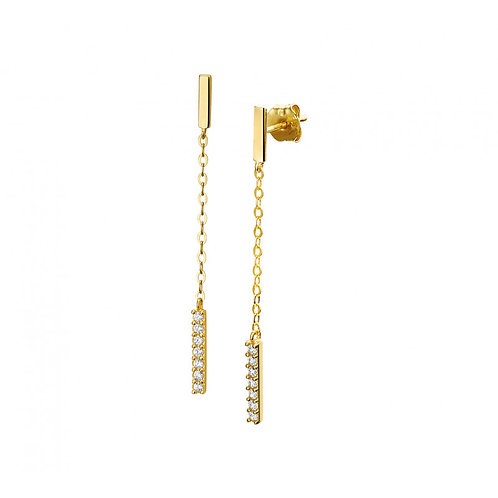 Gouden staafjes oorbellen