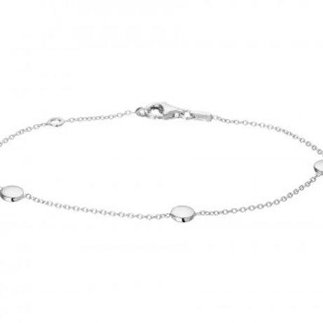Zilveren anker armband met rondjes
