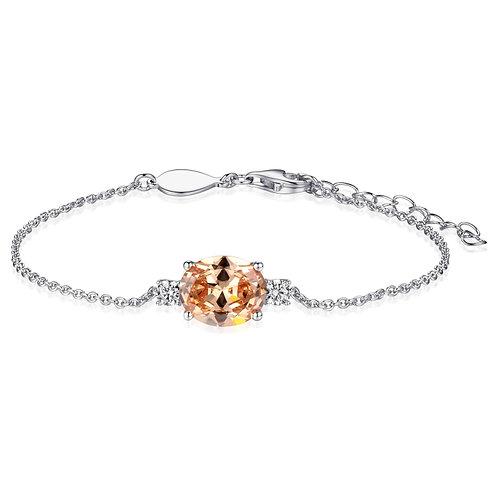 GS infinitois armband met champagne kleurige zirkonia