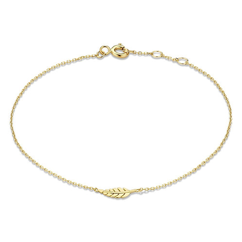 14 k gouden armband met veertje