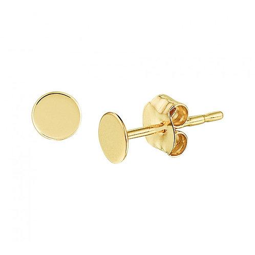 Gouden oorknoppen dicht rondje 14k