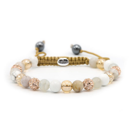 Karma armband spiral Light And Lovely XS (rose crystal)