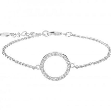 Armband met een cirkel van zirkonia