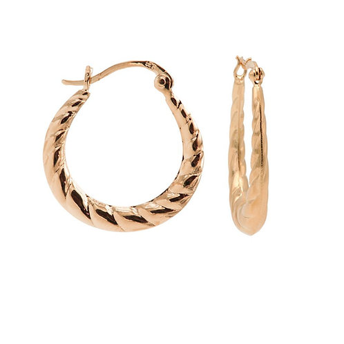 Karma oorbellen plain hoops braided 24MM