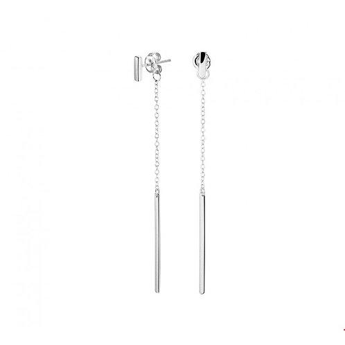 Minimalistische oorbellen 67 mm hoog