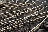 Rail switch track