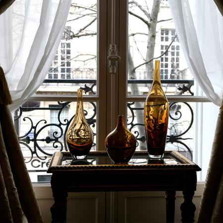 Paris - Ochre Crystal Vases