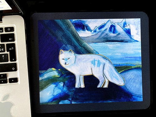 Arctic fox - Mousepad