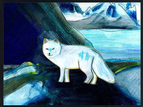Arctic fox along the fjord