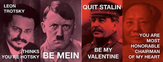 Valentines for the Fascist and Communist Love in Your Life
