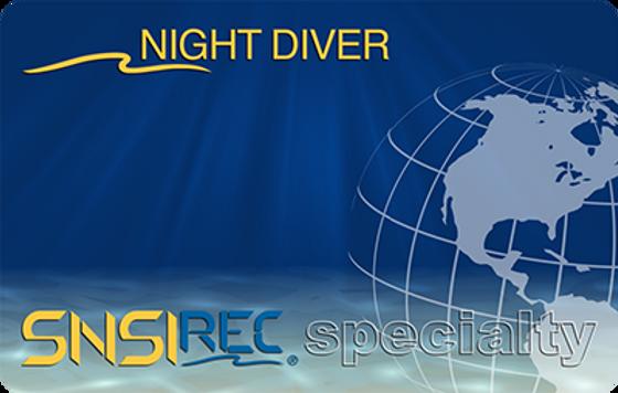 Night diver scuba college trimix