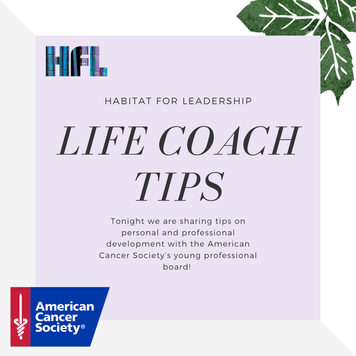 Adulting Life Coach Tips Session with the American Cancer Society ABOA Board Members