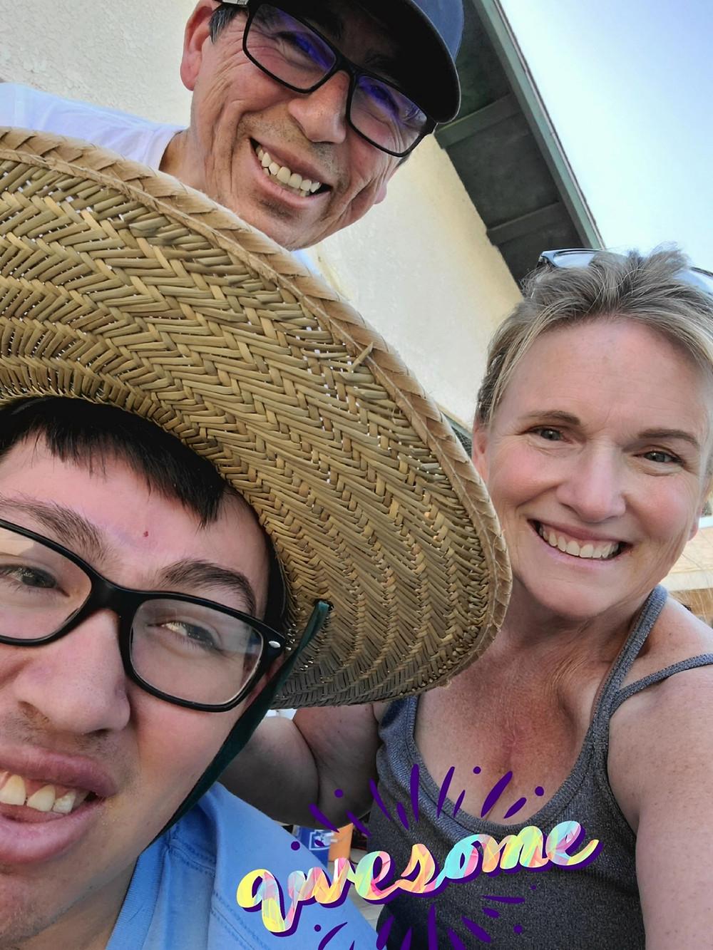 Jonny is seen with his parents, Rudy and Karen Garcia.