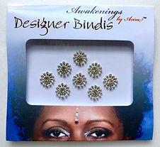 Awakenings By Aziza Designer Bindi Silver Jewel