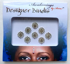 Awakenings By Aziza Designer Bindi Silver Jewel