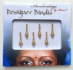 Awakenings By Aziza Designer Bindi Gold 1