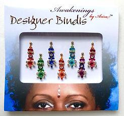 Tribal Multi Color Bindi, Face Jewel, Chakra Key